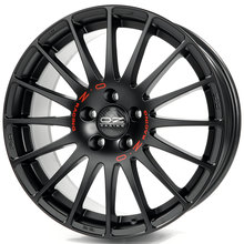 OZ Superturismo GT Matt Black + Red Lettering